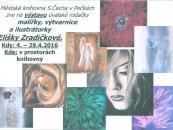 Výstava obrazů - Eliška Zradičková v Pečkách