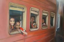 Momentka ze srílanského vlaku