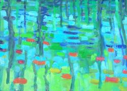 Odraz hladiny rybníka II