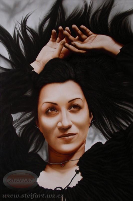 Portrét ženy v černém