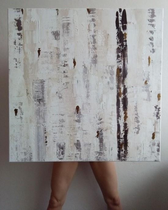 Akryl na plátně, 80/80