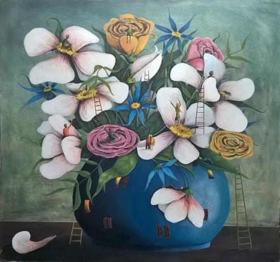 Kytice čajových růží
