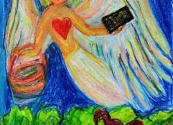 Zlatý Anděl s tabletem