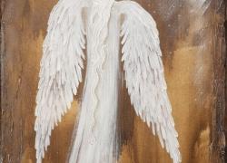Anděl 50x30cm olej na…