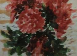 Chryzantémy ve váze