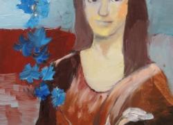 Dáma s modrou květinou