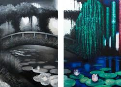 Monetova zahrada (diptych)