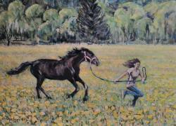 Jarní běh loukou