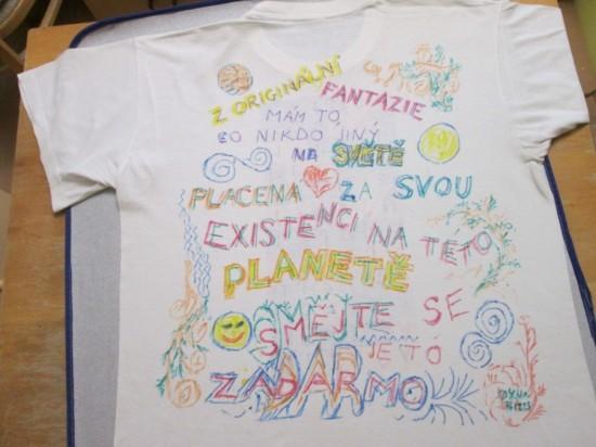 tričko placena za existenci, smějte se